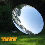 Customized Outdoor Abstract Ball Stainless Steel Landscape Sculpture Art Decoration For Sale
