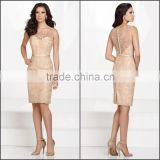Elegant Mother of the Bride Dress with Sash and Lace High Quality Tank and Sleeveless Sheath Mother of the Bride Dress