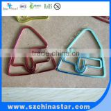 Fashion bag shape gifts flat metal paper clip