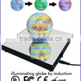 Newest plastic and mirror base magnetic floating globe change color for teaching and novelty gift