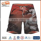 2016 moisture wicking dry rapidly sublimation print MMA shorts