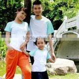 Family parent-child outfit Sublimation 100% polyester Raglan T-shirt,custom polyester T-shit,blank t-shirt for printing