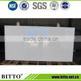 High quality super white engineere stone quartz stone slab for kitchen cabinet countertop
