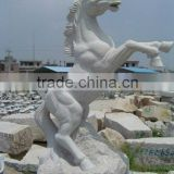 Natural stone white marble horse sculpture                                                                         Quality Choice