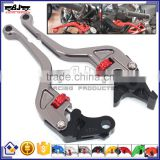 BJ-LS-010 Wholesale CNC Aluminum Short Motorcycle Adjustable Brake Clutch Lever for BMW F800R 2009-2015