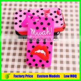 Sexy red lip custom Silicone mobile 3d phone case for Sony Xperia Z1 L39h phone back cover case