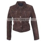 Good Quality Women's Brown Leather Jacket