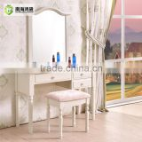 Modern White Wood MDF Panel Simple Vanity Korean Furniture Dressing Table                                                                         Quality Choice