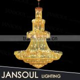 china supplier big antique brass lamp fancy elegant modern design empire crystal chains chandelier