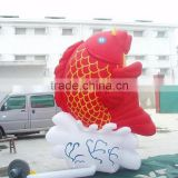 Attractive gold fish inflatable cartoon characters , fish inflatable model