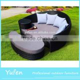 best waterproof fabric rattan bed sofa modern furniture design
