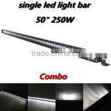 "Single Row 50"" 250W 5W Cre-e LED Combo High Performance LED Light Bar 4x4 Off Road Jee-p SUV ATV Truck Car Boat"