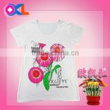 Super quality great material professional kids t-shirt baby clothes girls apparel