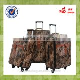 Fashion Material Luggage Soft Shell Suitcase Wheels Parts Travel Bag