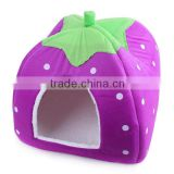 Wholesale lovely colorful strawberry shape pet house for cat puppy                                                                         Quality Choice