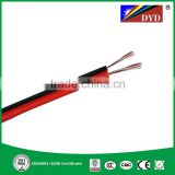 'RVB red and black soft sheathed parllel wire ,pvc insulated rvv cable,rvv electrical cable'