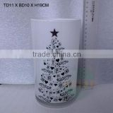 wholesale high quality white glass vase with different shapes