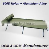 Aluminum military folding camping bed Army cot with 600D carrying bag