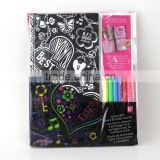 spiral drawing book with color pen ,whenzhou