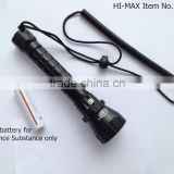 high intensity cree xm-l u2 dive light with smooth reflector torch scuba diving oxygen tank