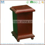 Made in china custom solid wooden memory cremation coffin pet urns wholesale