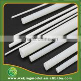 ABS plastic white scale model rod top sale factory China 7mm 50cm