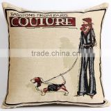 2015 new design double side jacquard fashion cushion cover polyester cotton cushion cover