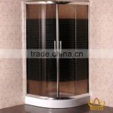 simple and elegant bathroom/shower enclosure with brown tempered glass with black printing(S110 brown with black printing)