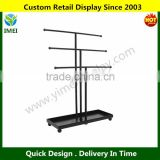 Modern Black Metal 3 Tier Tabletop Bracelet & Necklace Jewelry Organizer Display Tree Rack w/ Ring Tray YM5-1045
