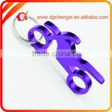 Wholesale Aluminium Alloy black Gitar-shaped Bottle Opener Keychain