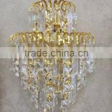 luxury crystal wall lamp with gold decoration CMF--001