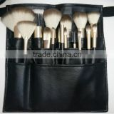 Matte black handle synthetic 18pcs professional makeup brush set