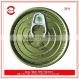 Pull ring bottle cap 211# tinplate easy open end