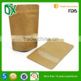 List of disposable products plain brown kraft paper bag with window and zipper for sunflower seeds