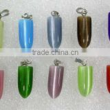 Cat's Eye Pendants,semi-Precious Stone Pendants,fiber Optic Bead Pendant