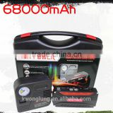 High Capacity 68800mAh Car emergency battery for vehichle emergency power bank with tyre pump