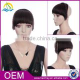 Excellent quality custom any size fringe hair bang