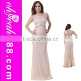 Factory directly special back design high quality long dress floor touching evening dress