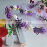 Wedding Artificial Flower Bridal PE Flower Head Wreath Head Garland