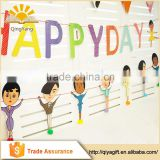 hanging birthday party cartoon human figure banner party decorations