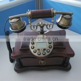 Land Line Phone vintage Decorations Wooden Corded Telephone With Caller Id