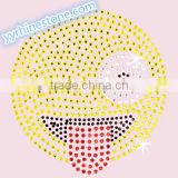 Hottest Sell Lovely Emoji smile face Rhinestone Iron-on Rhinestone Transfer Wholesaler #7