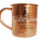Promotional copper cup absolut solid manufacturer moscow mule copper mugs