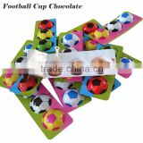individually wrapped Football pattern merci chocolate center filling biscuit