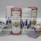 Round Shape Talcum Powder Cosmetic Packaging Can