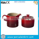 Classical red porcelain Coffee Creamer Container