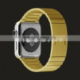 Stainless steel strap for watch gold plating band gold luxury accessories for apple watch