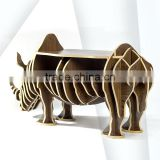 Rhinoceros Puzzle Table,Creative Animal Furniture,MDF DIY Assembled Table For Fashion Living Room,Wooden Animal Furniture