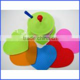 Various colors of silicone cup pad