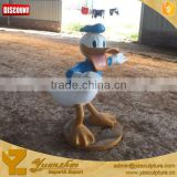 Christmas garden polyresin donald duck statue decorations